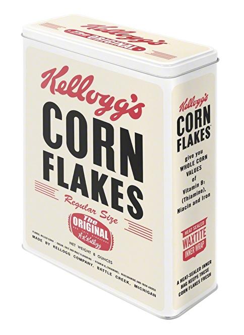 Nostalgic Art Kellog's Corn Flakes Saklama Kutusu Renkli